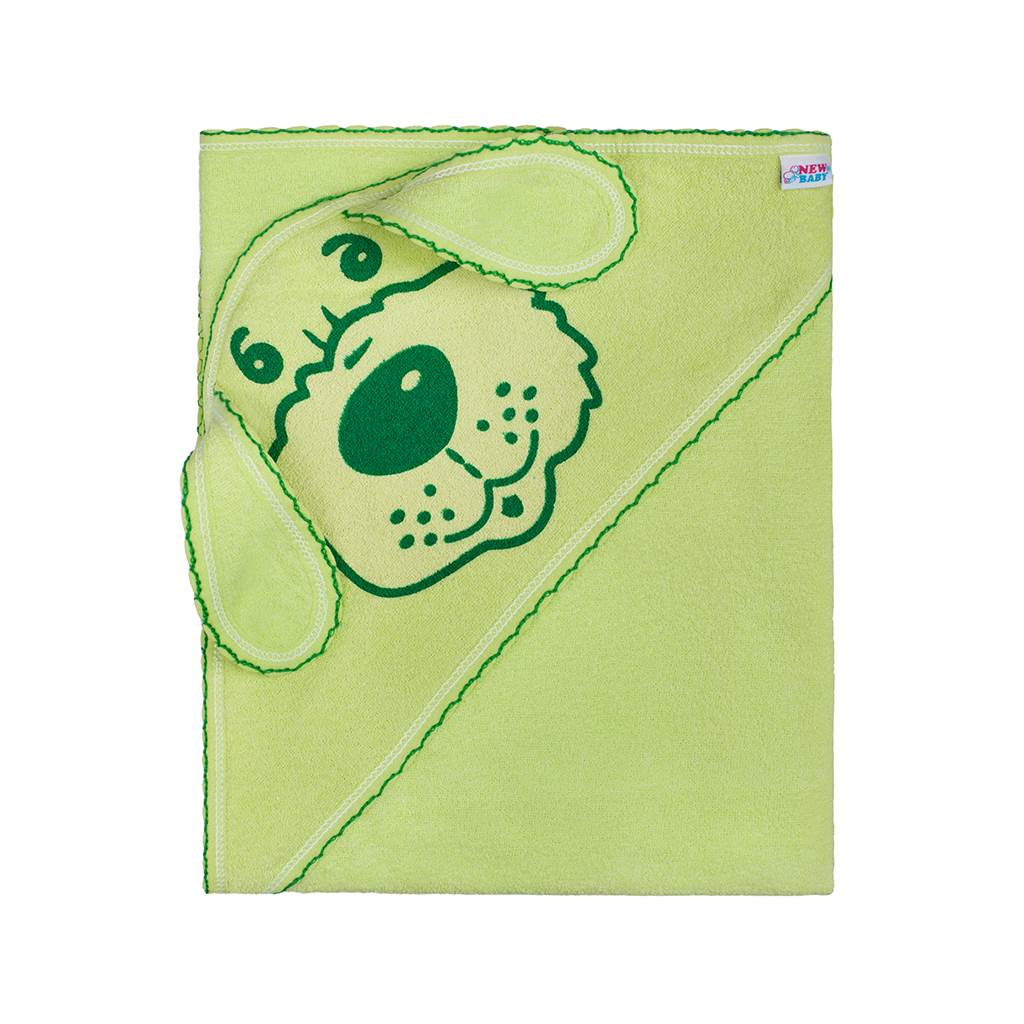 Dětská froté osuška 80x80 pejsek zelená