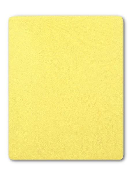 Froté prostěradlo do postýlky žlutá