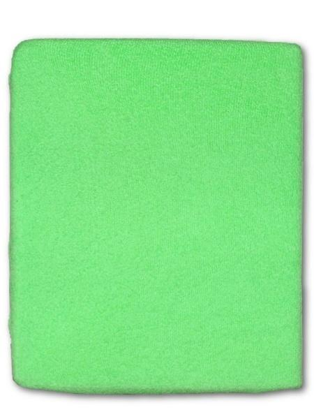 Froté prostěradlo do postýlky zelená