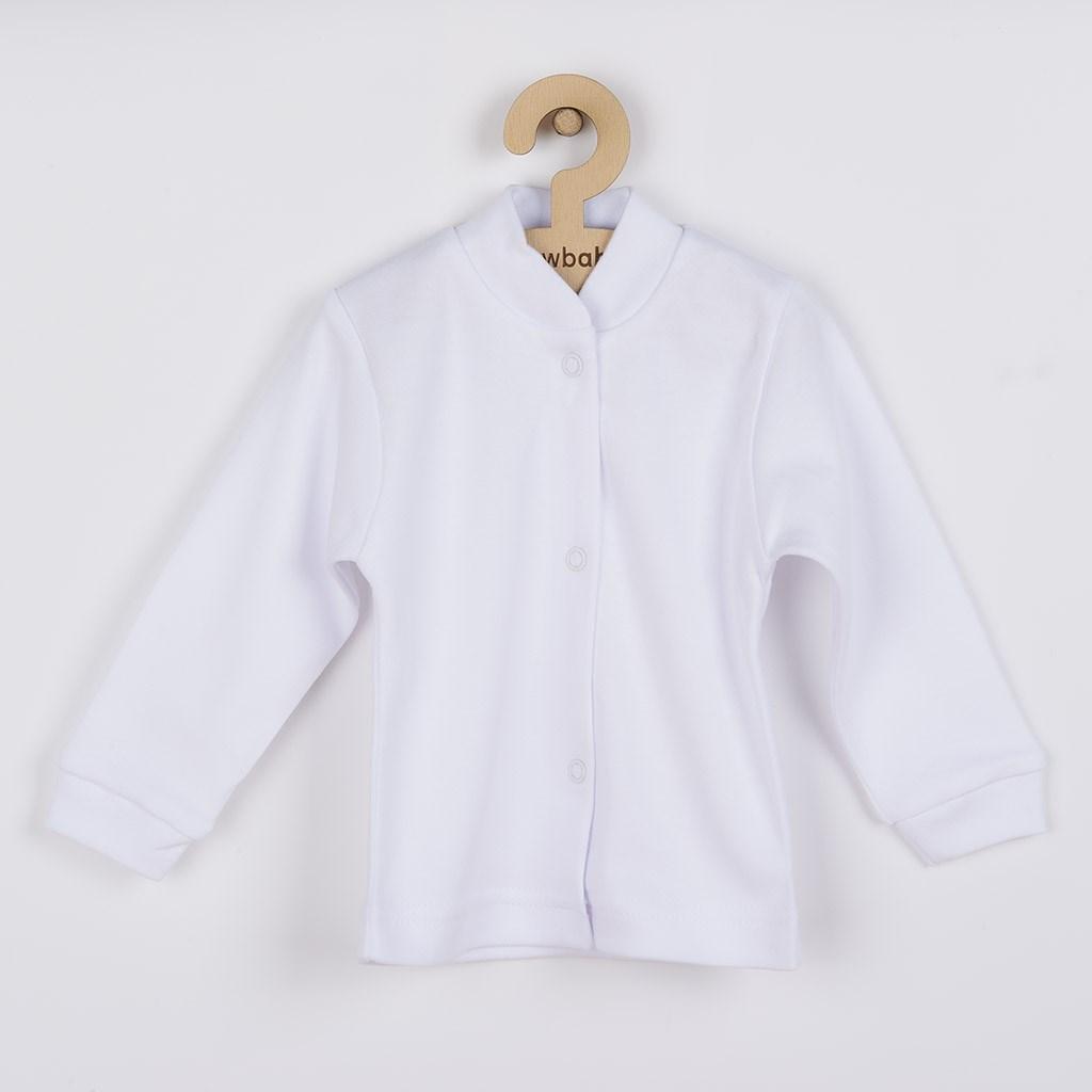 4-dílná soupravička s bílým kabátkem, vel. 68 (4-6m)