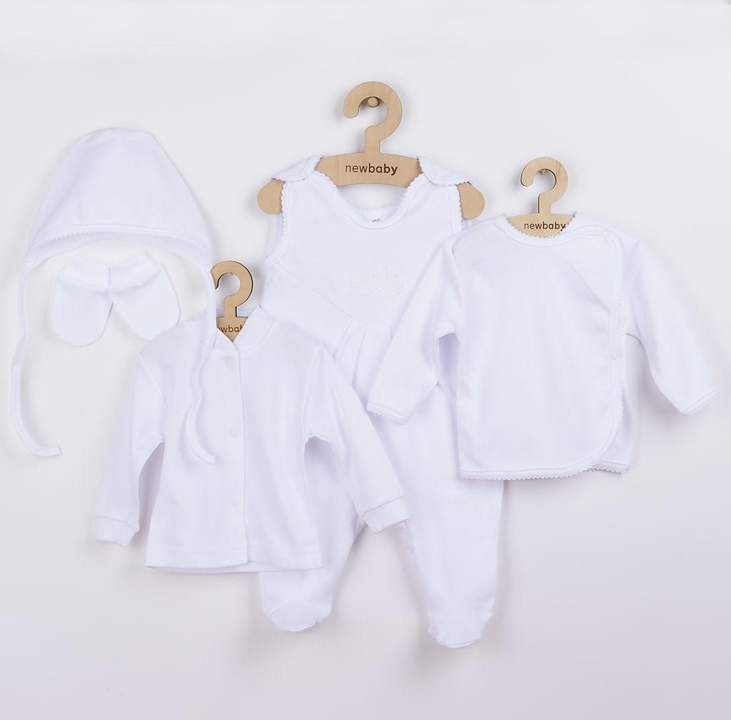 Soupravička 5-ti dílná New Baby bílá vel. 62 (3-6m)