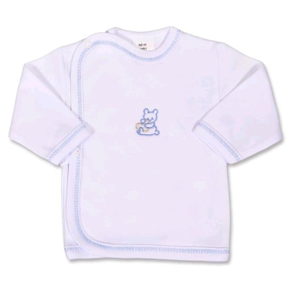Kojenecká košilka s vyšívaným obrázkem New Baby modrá-56 (0-3m)