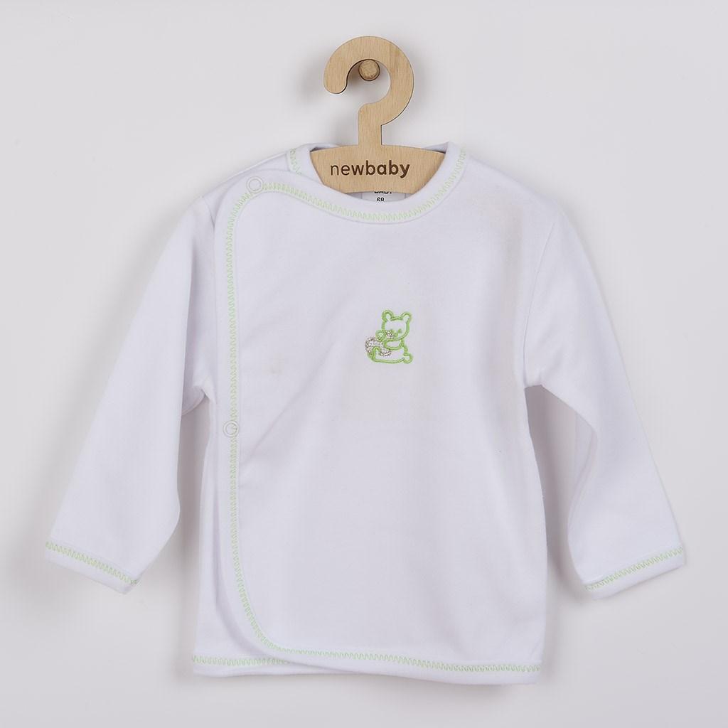 Kojenecká košilka s vyšívaným obrázkem New Baby zelená-68 (4-6m)