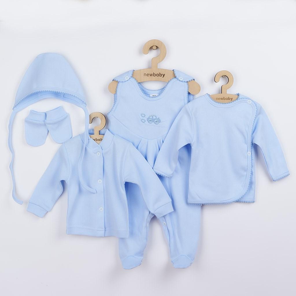 5-ti dílná soupravička New Baby modrá, Velikost: 56 (0-3m)