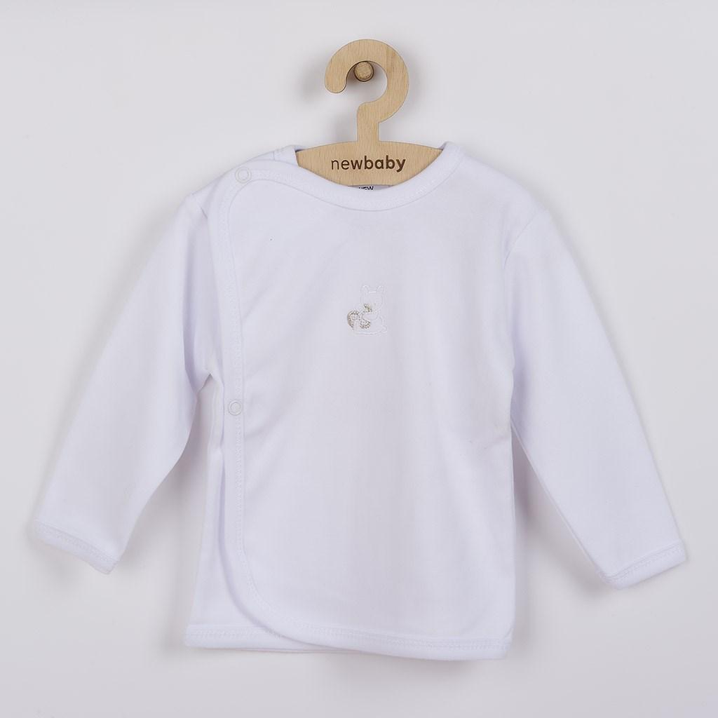 Kojenecká košilka s vyšívaným obrázkem New Baby bílá vel. 50