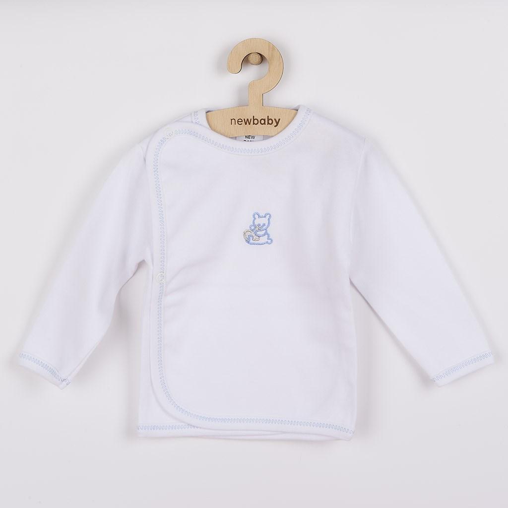 Kojenecká košilka s vyšívaným obrázkem New Baby modrá-50