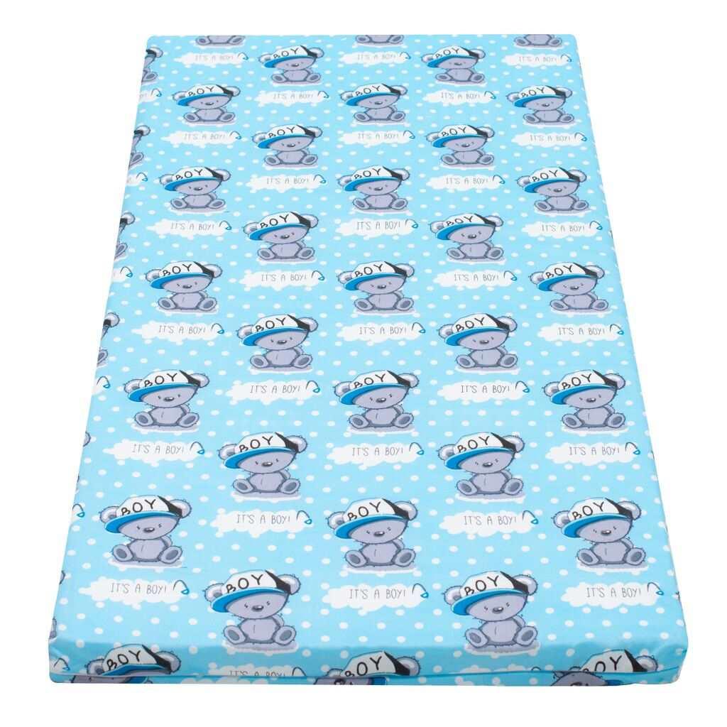 Dětská pěnová matrace New Baby 120x60 modrá - různé obrázky