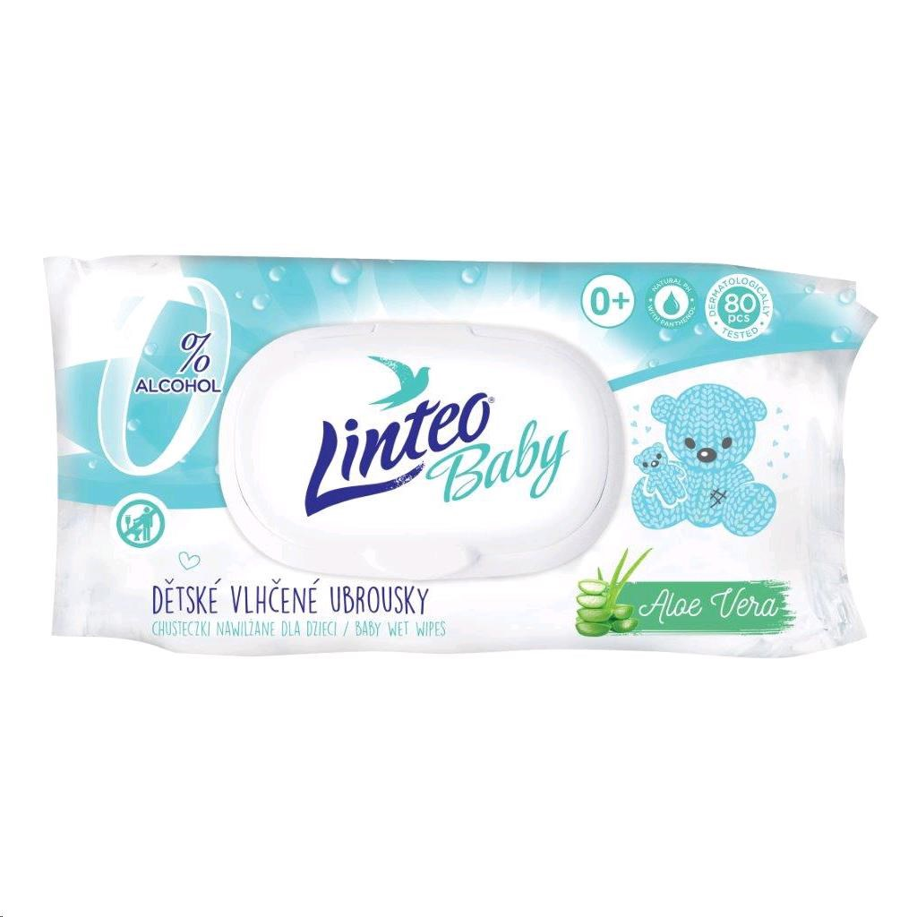 Vlhčené ubrousky Linteo Baby 80 ks Pure and fresh