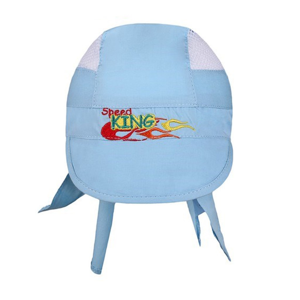 Letní dětská čepička-šátek New Baby Speed King modrá vel. 116 (5-6 let)