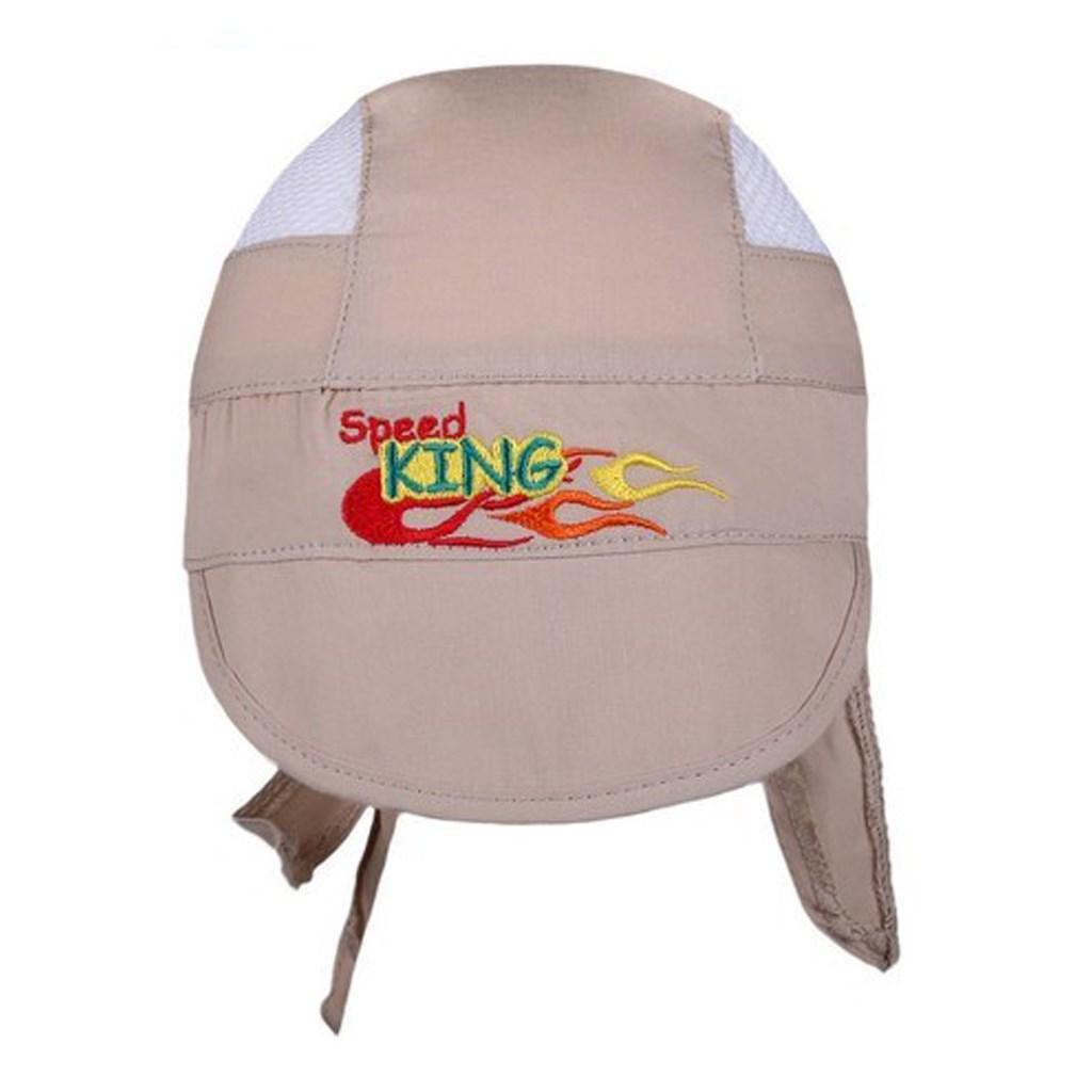 Letní dětská čepička-šátek New Baby Speed King béžová vel. 116 (5-6 let)