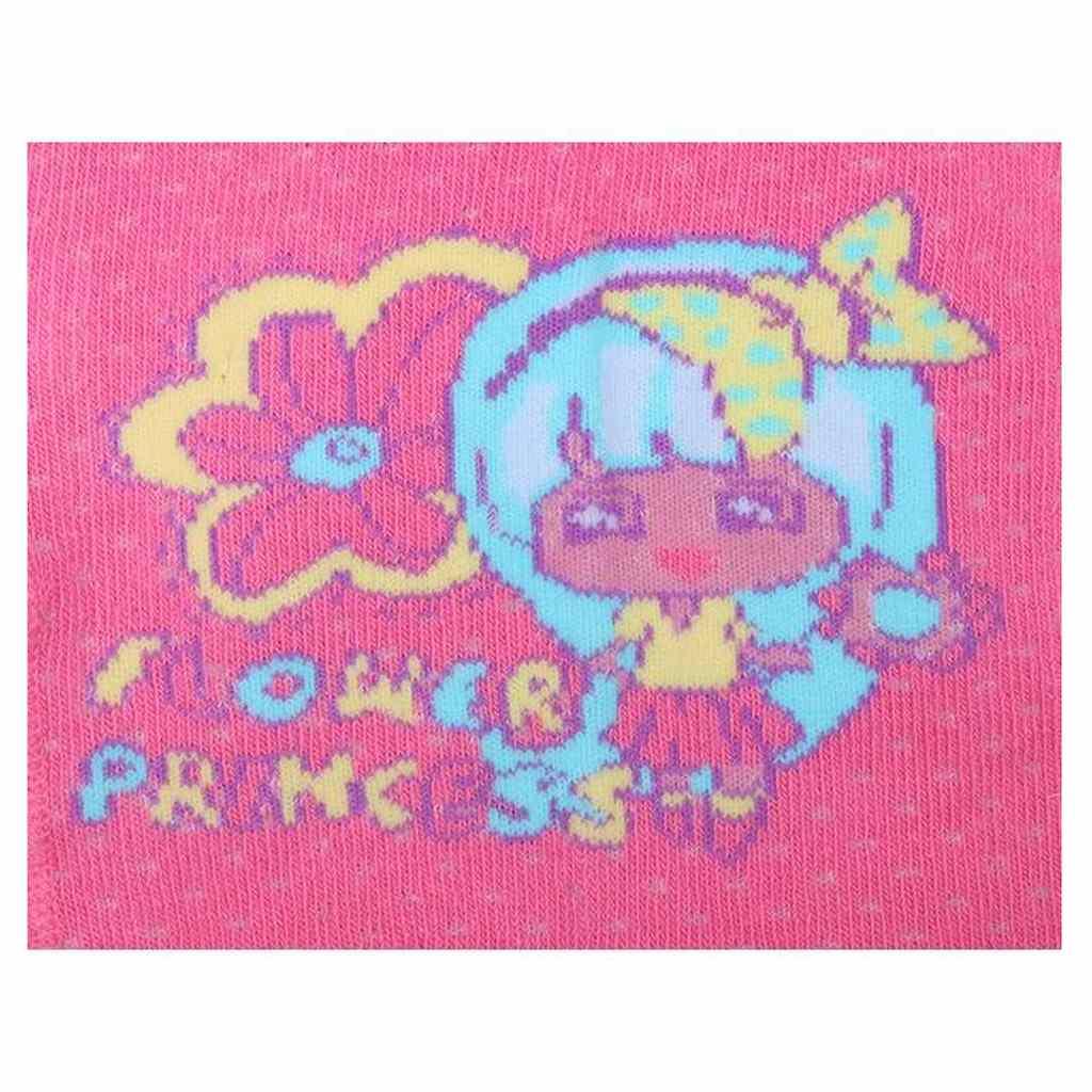 Bavlněné punčocháčky New Baby 3xABS růžové flower princess