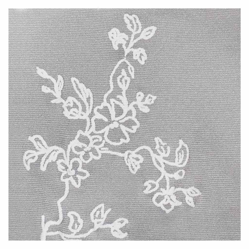 Punčocháče z mikrovlákna New Baby šedé s kytičkami vel. 152 (11-12r)