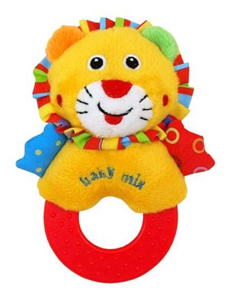Dětské plyšové chrastítko Baby Mix lev