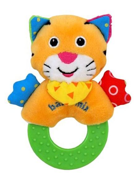 Dětské plyšové chrastítko Baby Mix tygřík