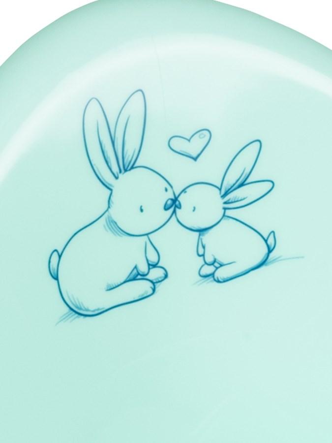 Hrající dětský nočník protiskluzový Bunny mátový