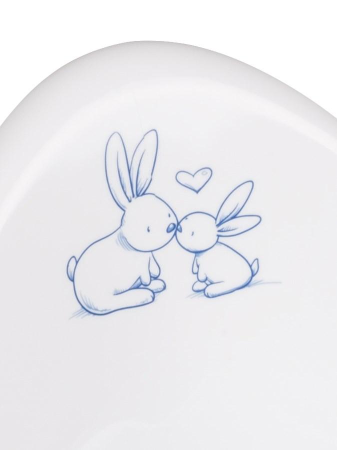Hrající dětský nočník protiskluzový Bunny bílý