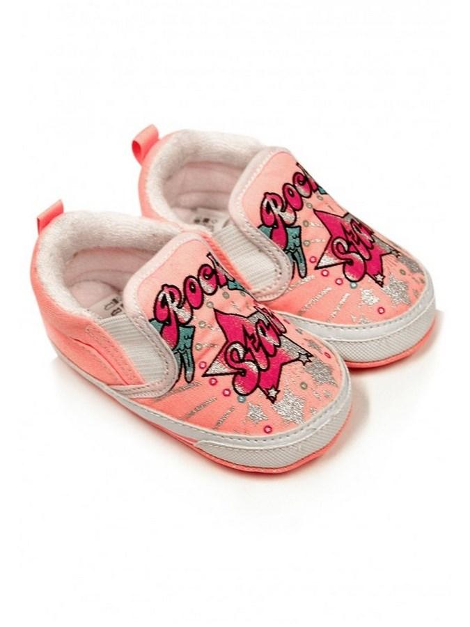 Dětské capáčky Bobo Baby 12-18m růžové rock star