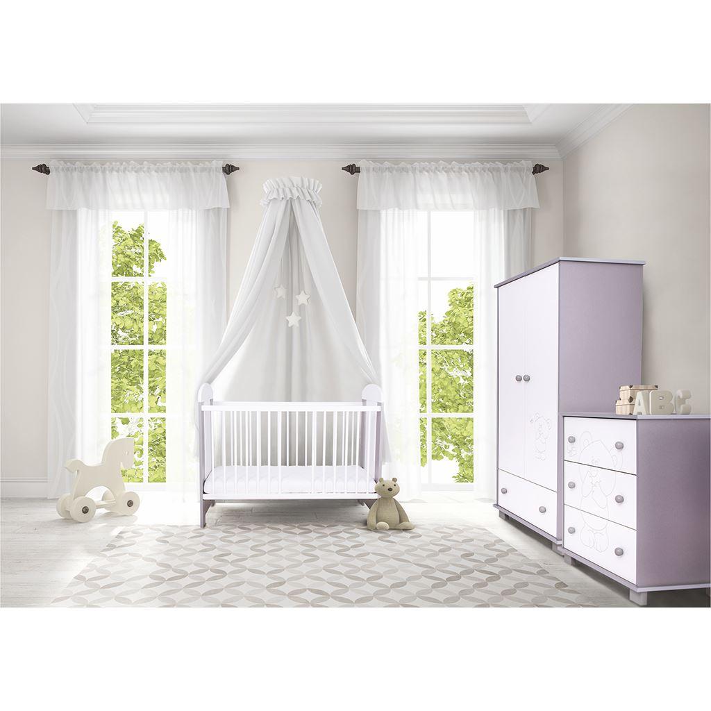 Dětská skříň Drewex Malý medvídek a motýlek šedá