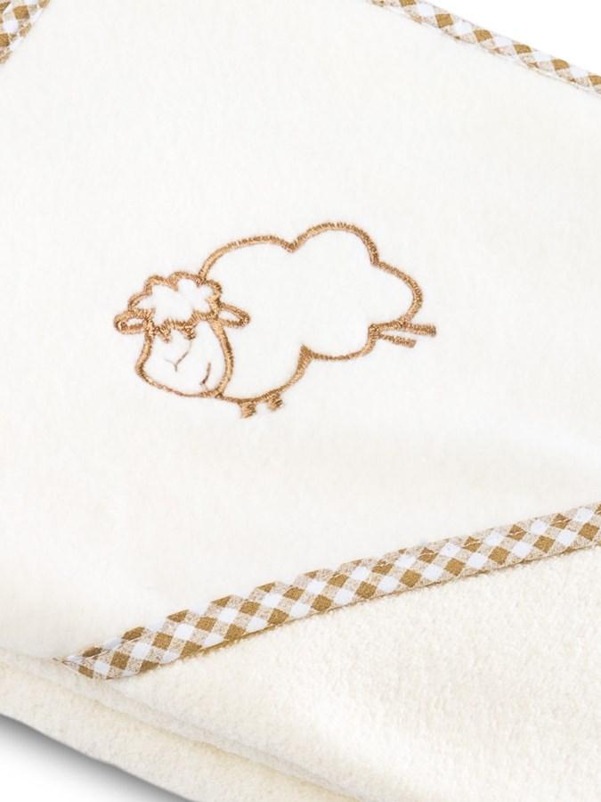 Dětská osuška Sensillo Ovečka 80x80 cm béžová