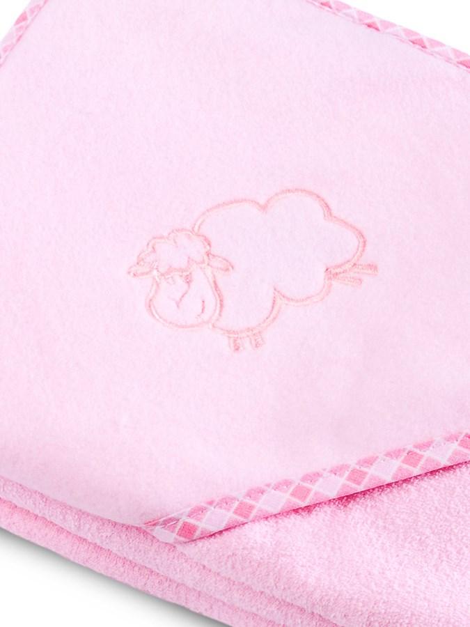 Dětská osuška Sensillo Ovečka 80x80 cm růžová