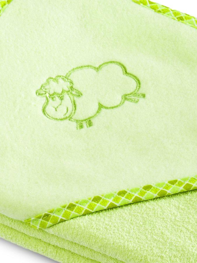 Dětská osuška Sensillo Ovečka 80x80 cm zelená