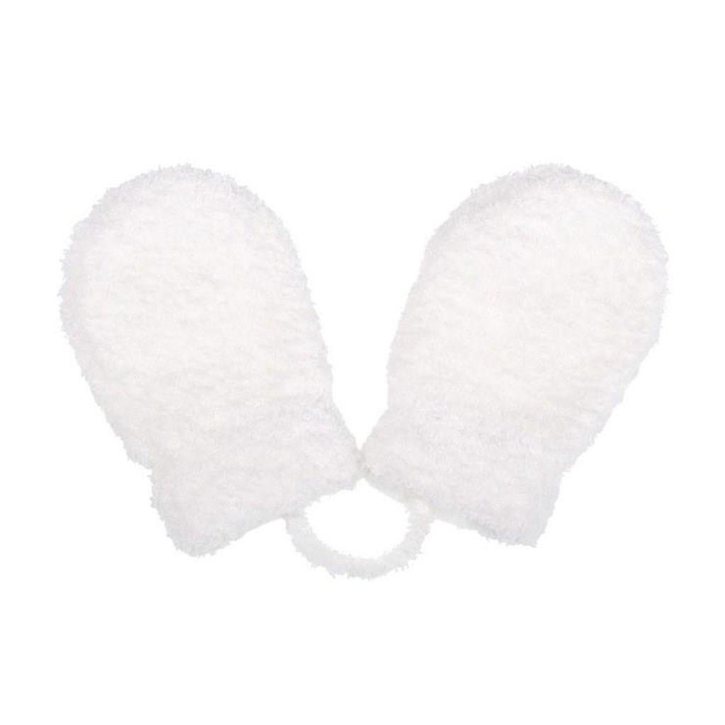 Dětské zimní rukavičky New Baby se šňůrkou bílé
