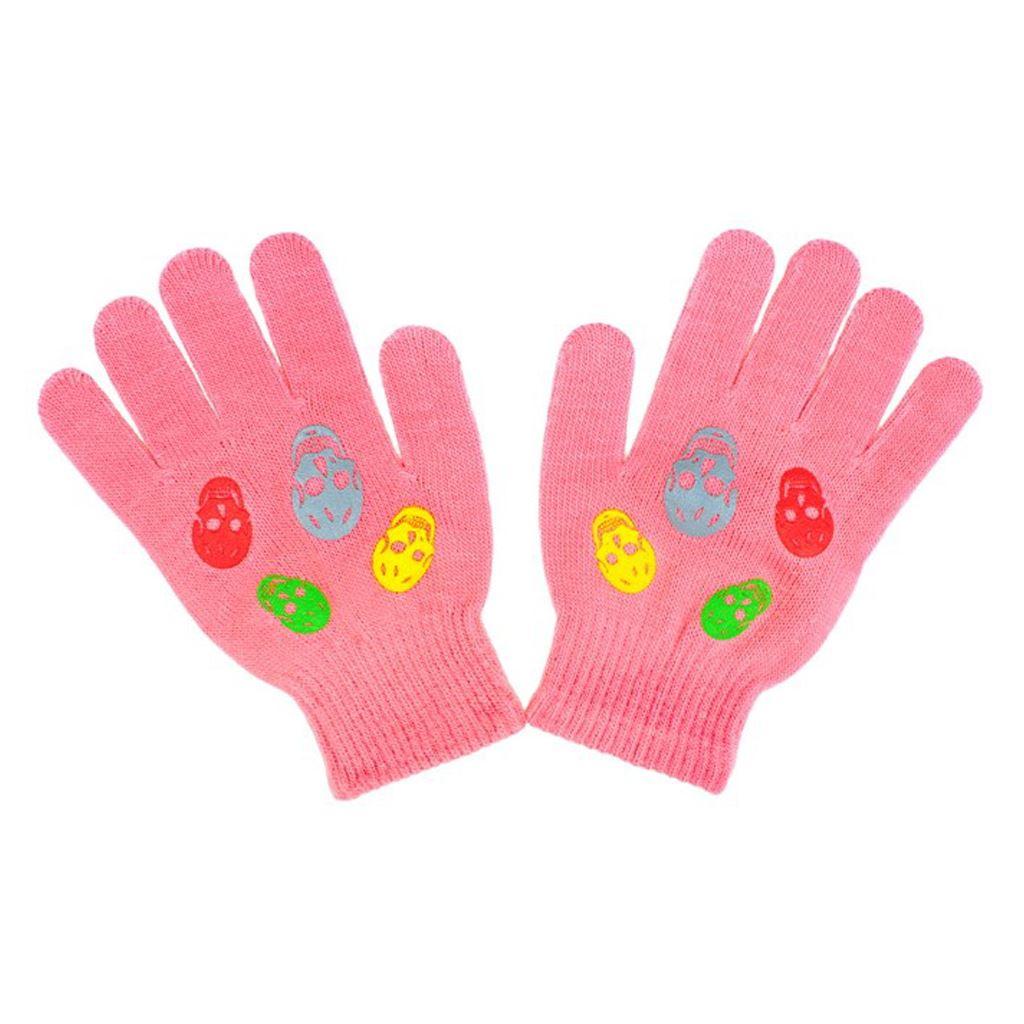 Dětské zimní rukavičky New Baby Girl růžové