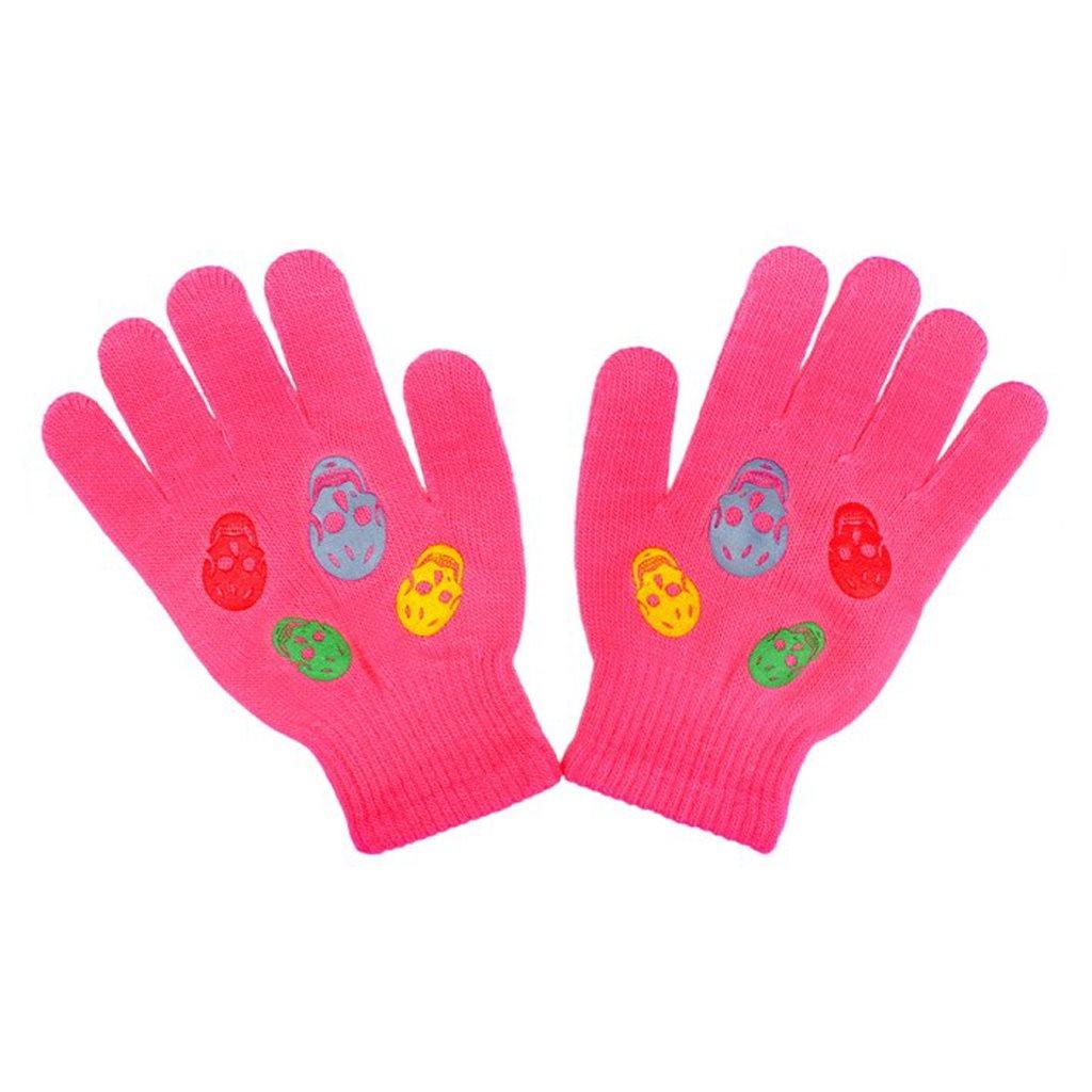 Dětské zimní rukavičky New Baby Girl tmavě růžové vel. 122 (6-7 let)