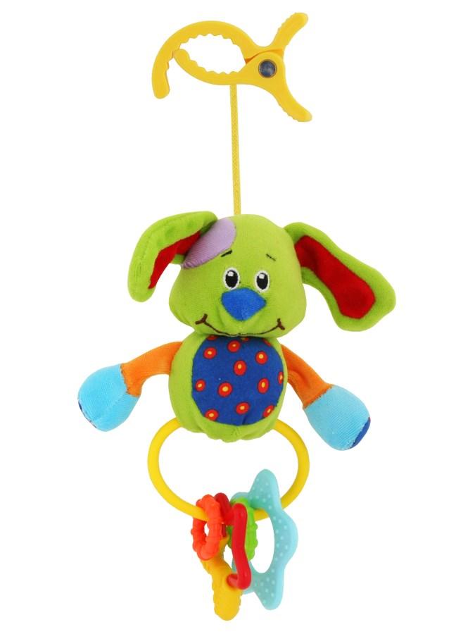 Dětská plyšová hračka s chrastítkem Baby Mix pejsek