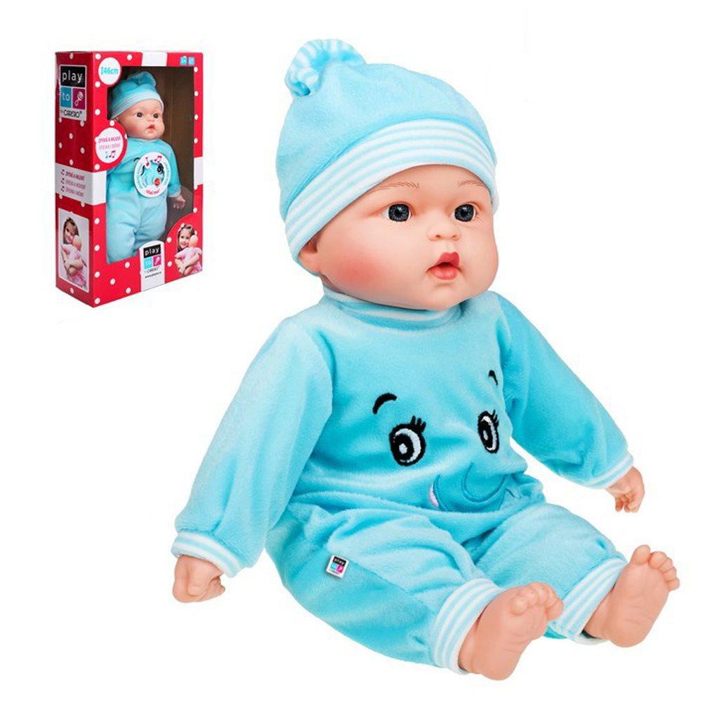 Česky mluvící a zpívající dětská panenka PlayTo Maruška 46 cm