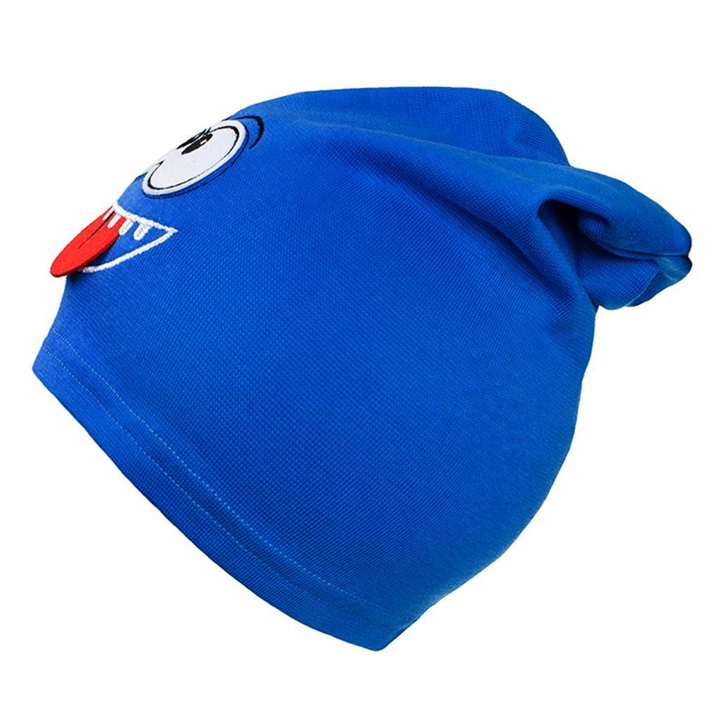 Podzimní dětská čepička New Baby smíšek modrá vel. 110 (4-5r)