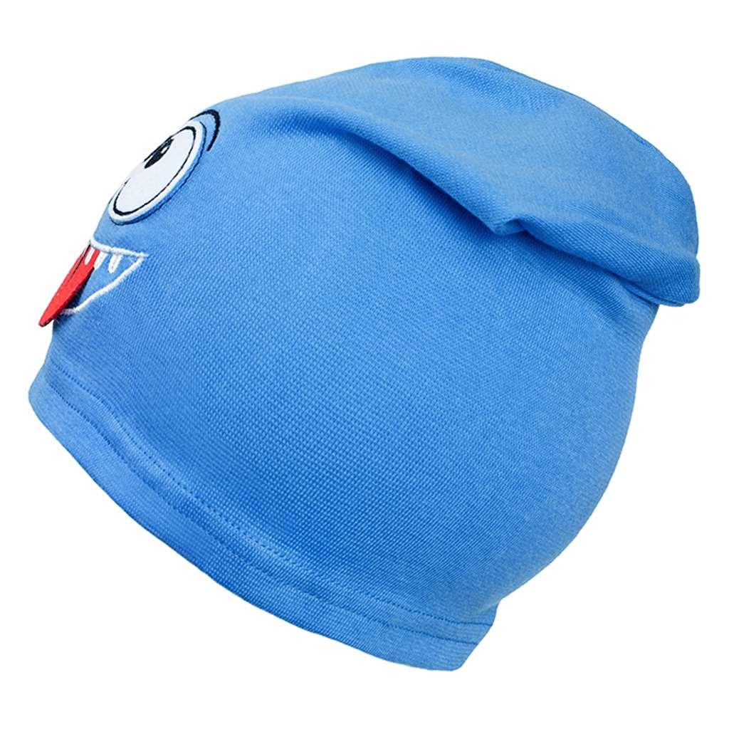 Podzimní dětská čepička New Baby smíšek světle modrá
