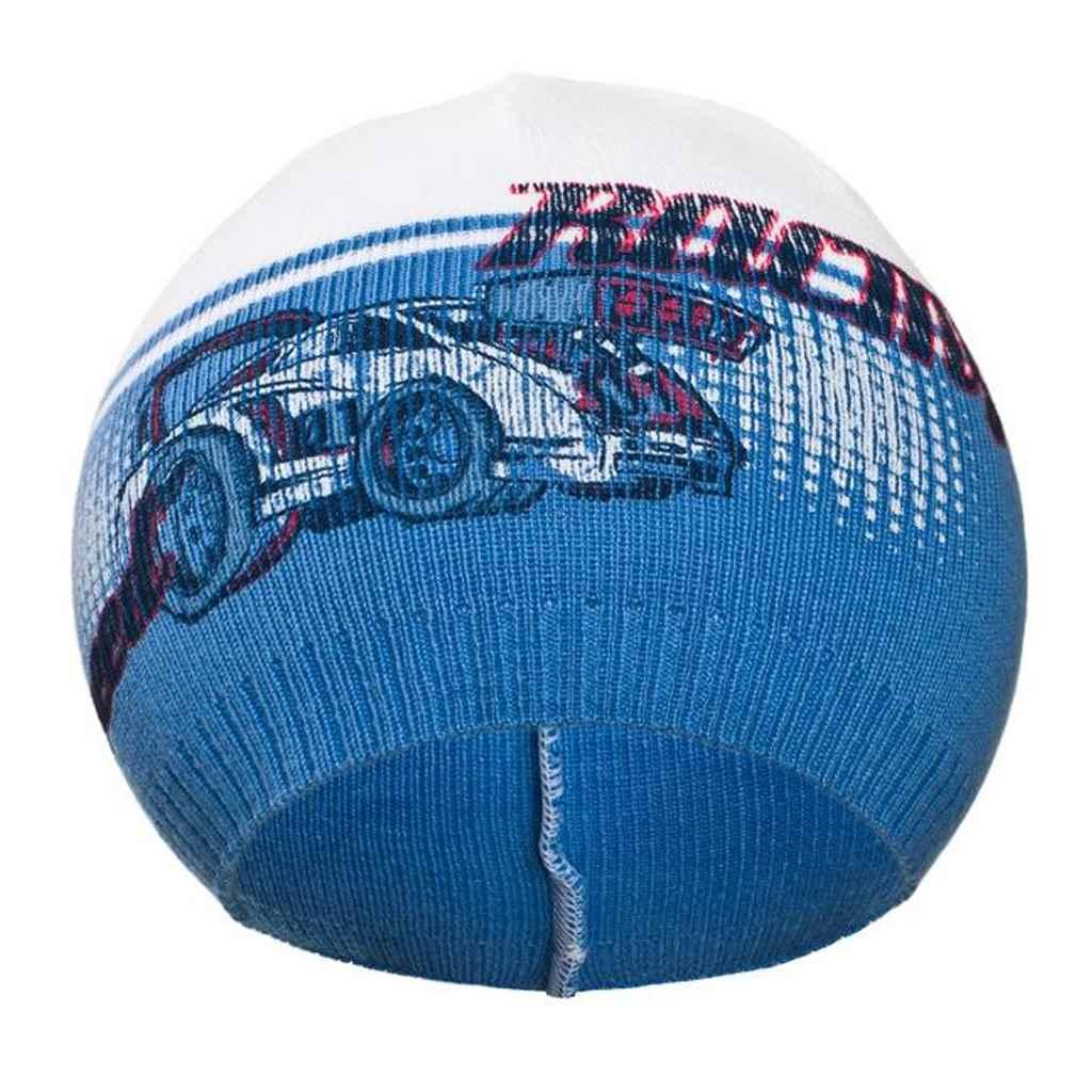 Podzimní dětská čepička New Baby Racing tmavě modrá