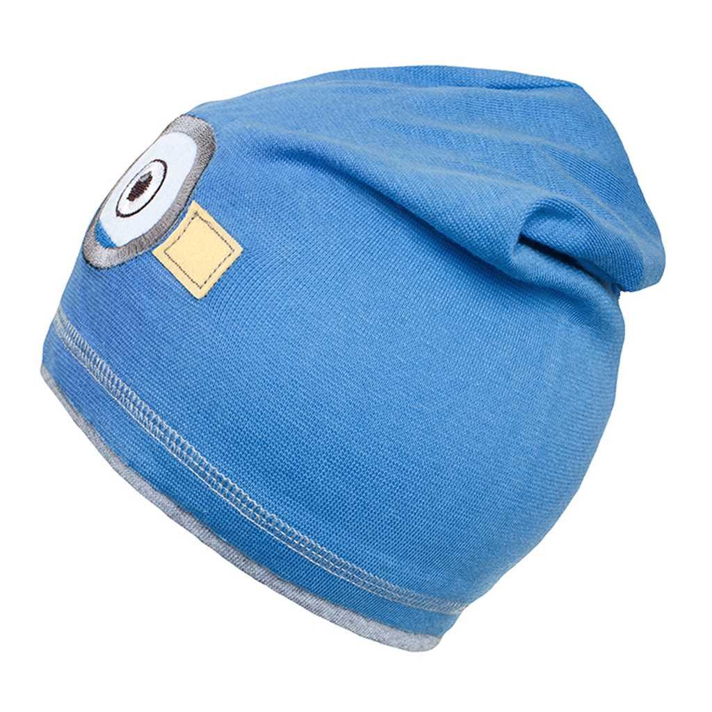 Podzimní dětská čepička New Baby mimoň světle modrá