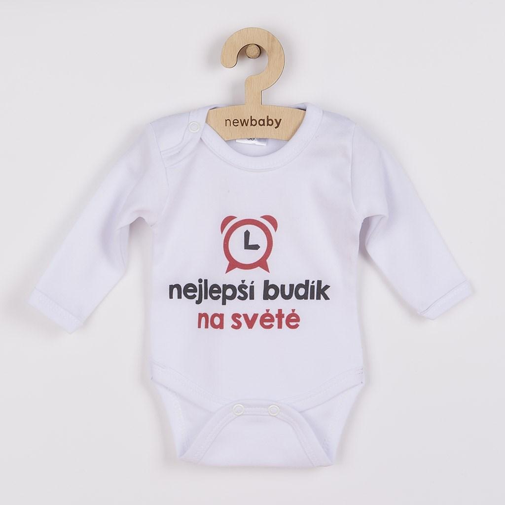 Body s potiskem New Baby nejlepší budík na světě, vel. 56 (0-3m)