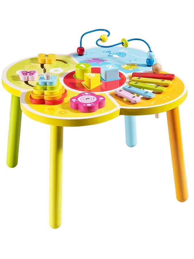 Dřevěný edukační stoleček Baby Mix