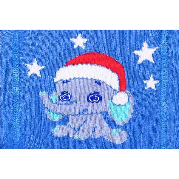 Vánoční bavlněné punčocháčky New Baby modré se slonem vel. 92 (18-24m)