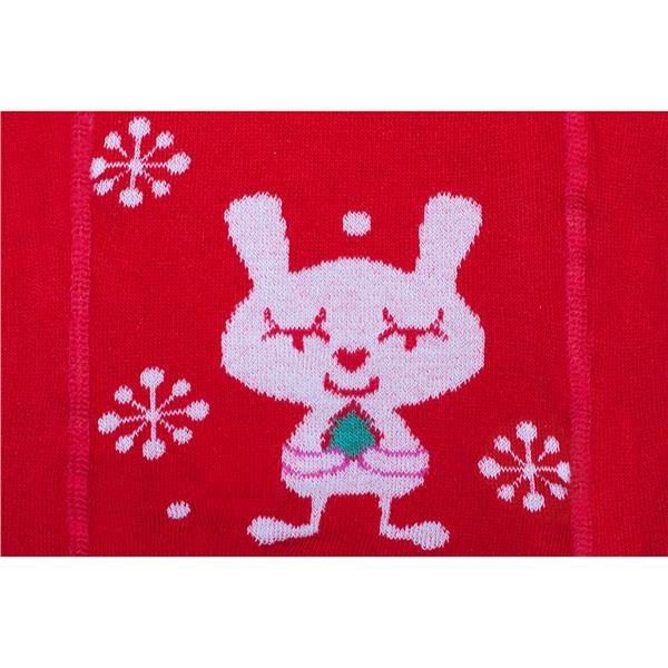 Vánoční bavlněné punčocháčky New Baby červené s vločkami a kočičkou vel. 92 (18-24m)