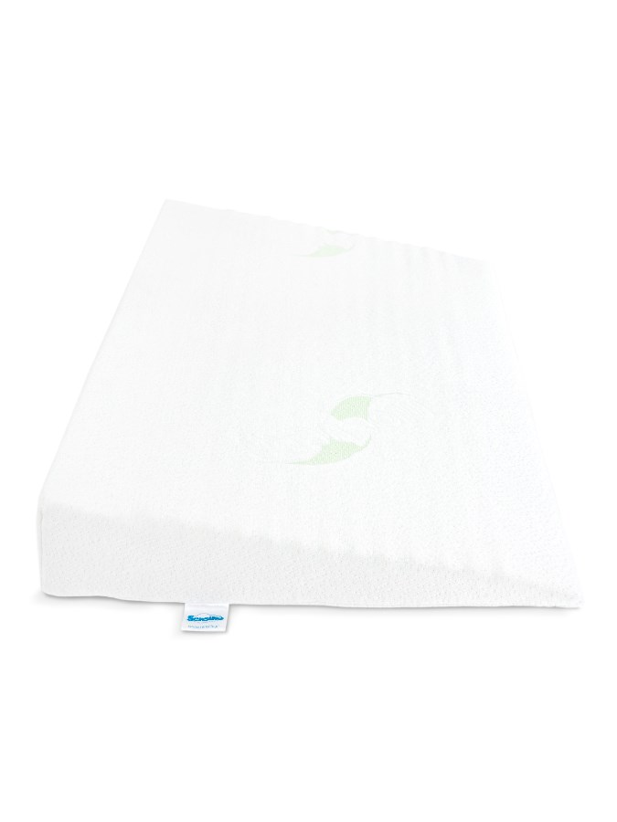 Kojenecký polštář - klín Sensillo bílý Luxe s aloe vera 60x38 cm