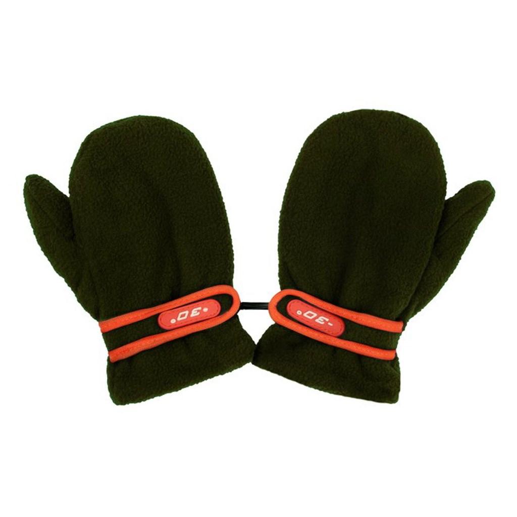 Dětské rukavičky New Baby fleecové tmavě zelené
