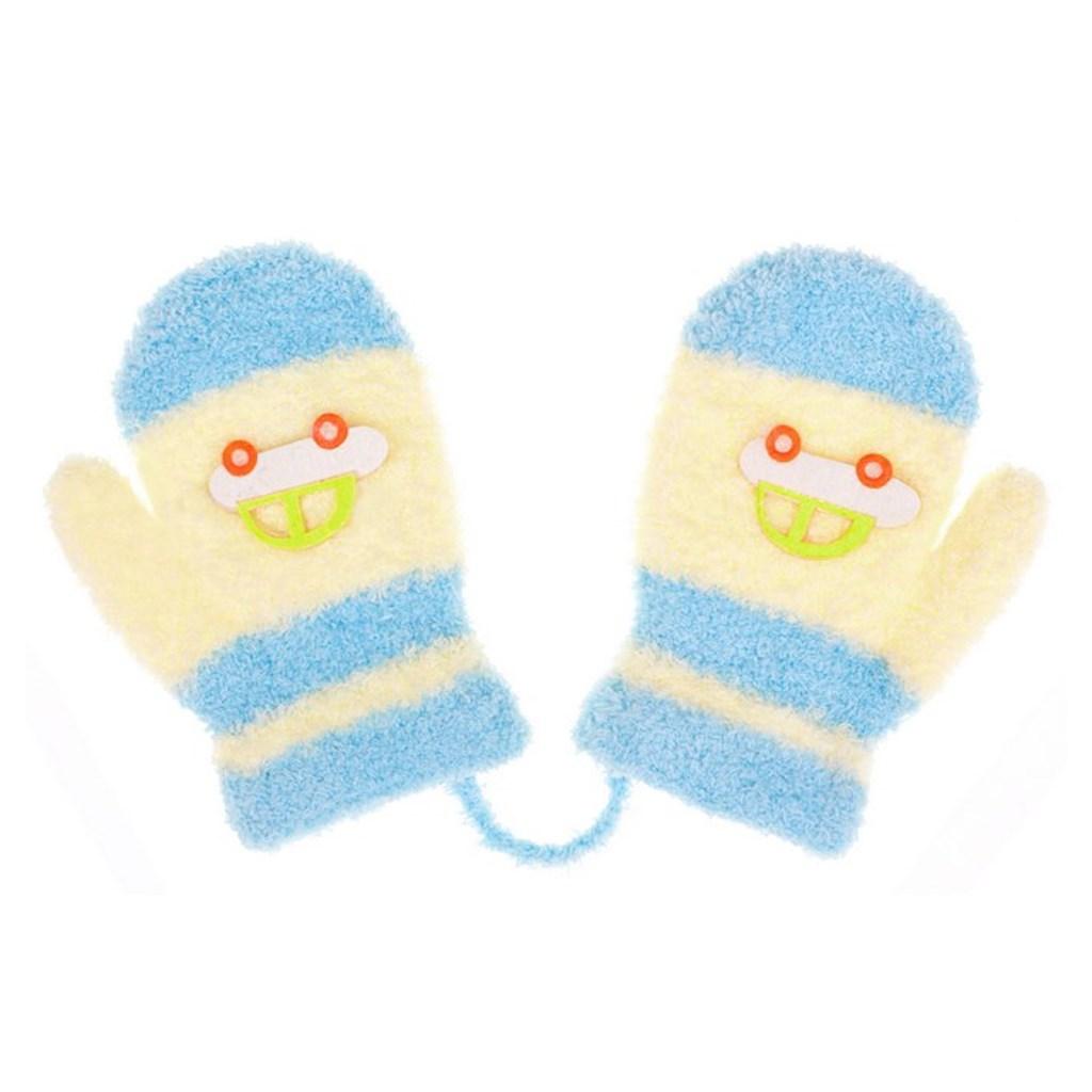 Dětské rukavičky New Baby s autem světle modro-modré