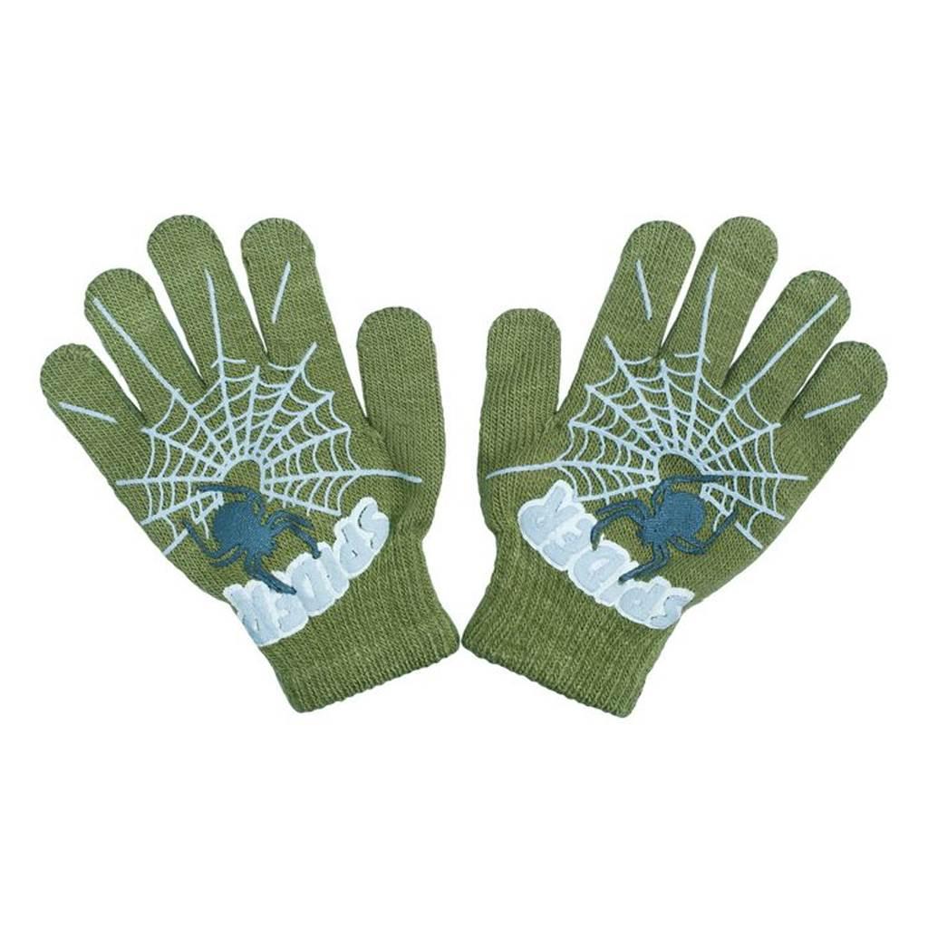 Dětské rukavičky New Baby s pavoukem zelené