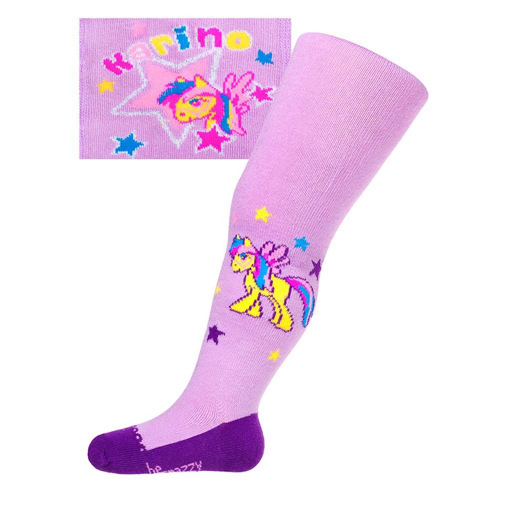 Bavlněné punčocháčky New Baby fialové karino