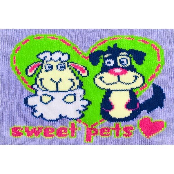 Bavlněné punčocháčky New Baby fialové pets