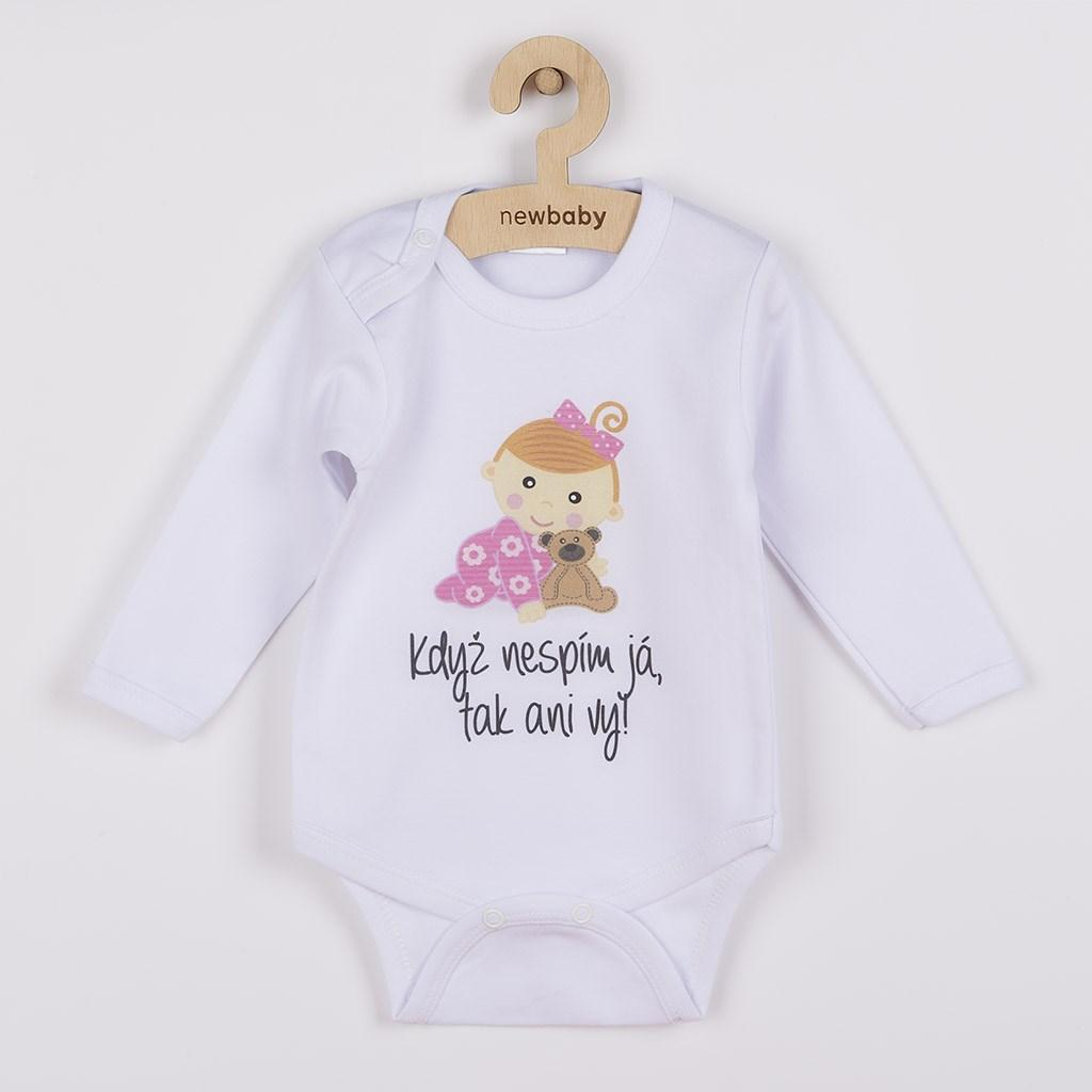 Body s potiskem New Baby Když nespím já, tak ani vy, Velikost: 56 (0-3m)