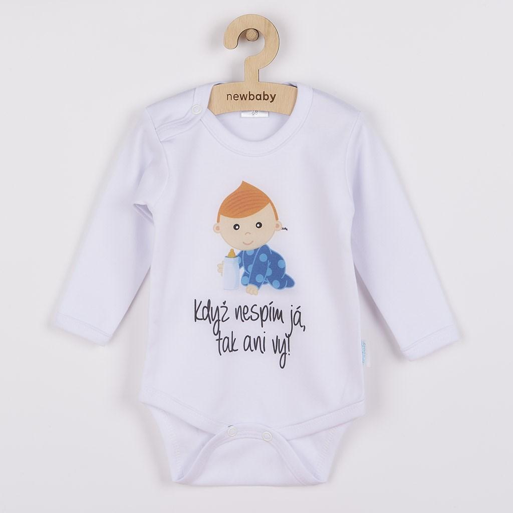 Body s potiskem New Baby Když nespím já, tak ani vy, vel. 80 (9-12m)