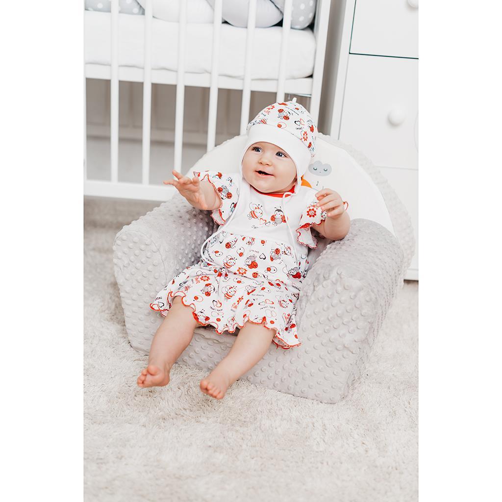 Dětská bavlněná čepička New Baby Beruška vel. 68 (4-6m)
