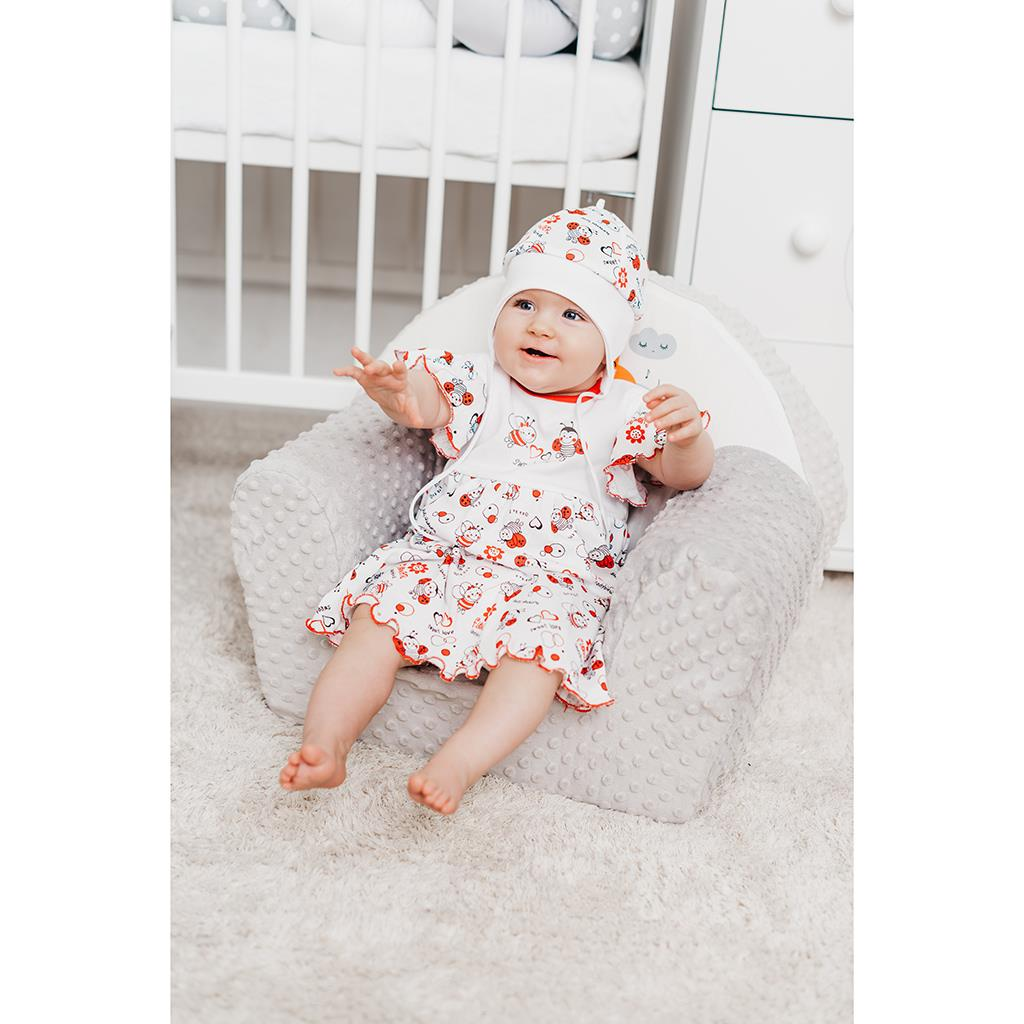 Dětská bavlněná čepička New Baby Beruška vel. 50