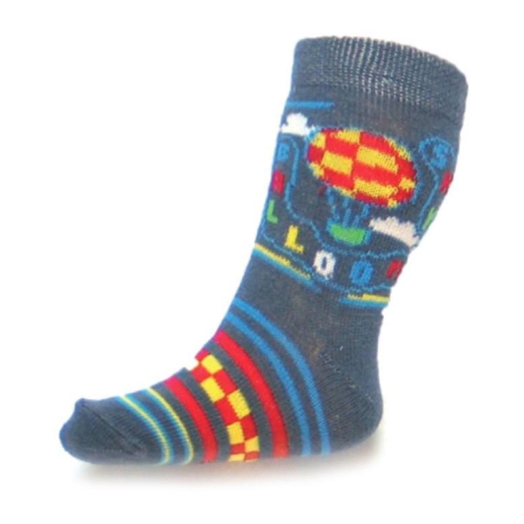 Kojenecké bavlněné ponožky New Baby šedé sky baloon