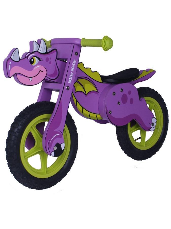 Dětské odrážedlo kolo Milly Mally DINO violet